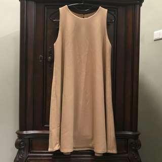 Cream dress bust up to 94 length 88