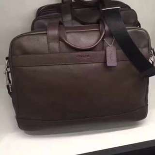 Authentic Coach men briefcase laptop bag Sling bag