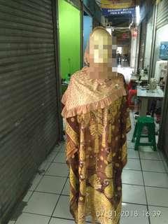 Gamis muslim batik