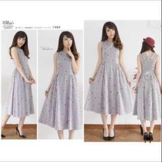 Dress flare cross zara back premium katun, Fit to L, LD : 90-96cm (strecth) P : 110cm, resleting samping, warna black