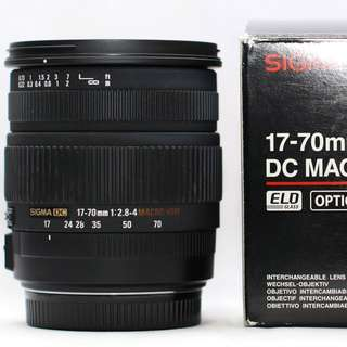 Sigma 17-70mm f2.8-4 hsm macro for canon