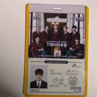 BTS JIMIN SKT ID CARD / JIMIN SK TELECOM STUDENT IDENTITY CARD