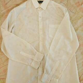白色絲絨古著襯衫