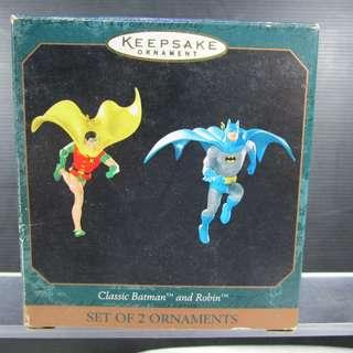 Classic Batman & Robin Ornaments ( Set of 2 )