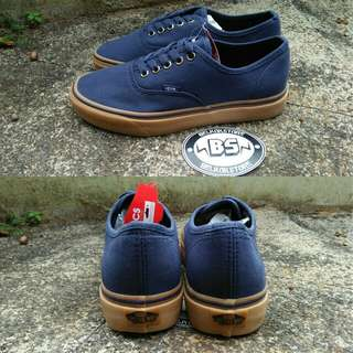 Vans authentic indian inc navy sole gum