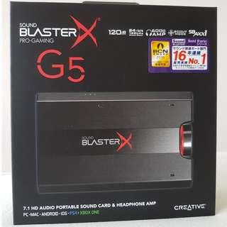 Sound BlasterX G5  7.1 HD Audio Portable Sound Card with Headphone Amplifier