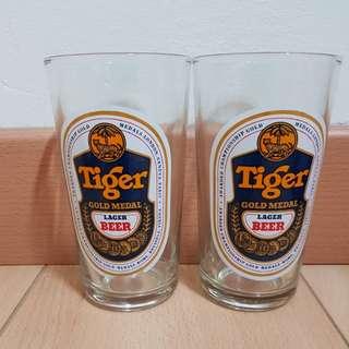 Vintage Tiger Beer Glasses (1 pair)