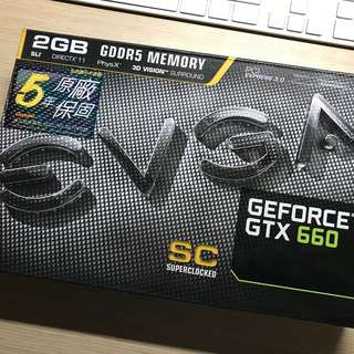 顯示卡EVGA GeForce GTX 660-2GB DDR5保固內