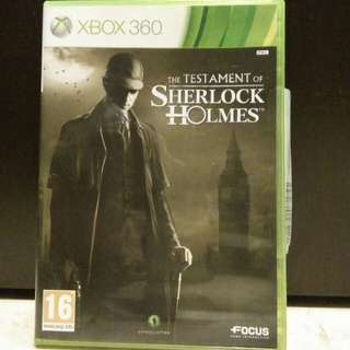 Xbox 360 Game Testament of Sherlock Holmes