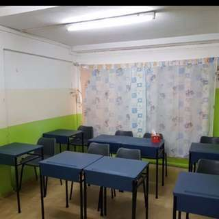 Tution room for rent (classroom)