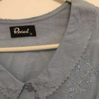 Revival - Size 10 Blouse with Embroidery Detail