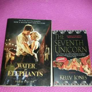Water for elephants & the seventh unicorn