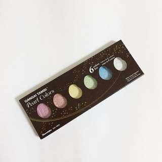 kuretake gansai tambi pearl colors watercolor set