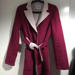 🚚 max&co浴袍式綁帶羊毛大衣(可雙面穿