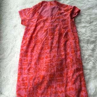 New kenzo red silk Tea Dress 38