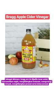 Toner cuka apel bragg apple cider vinegar share in bottle jar 30ml 60ml