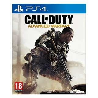 Restock PS4 GAME: CALL OF DUTY ADVANCED WARFARE