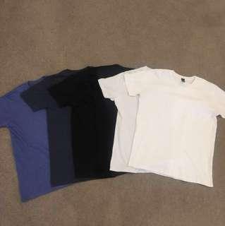 8 Plain T Shirts