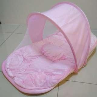 Baby Bed Mosquito Net Kelambu Bayi Berserta dengan Tilam dan Bantal
