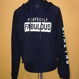 Crop hoodie jacket