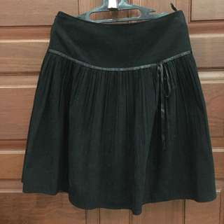 Suede tweede black skirt