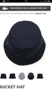 Original Navy Lacoste Bucket Hat Cap