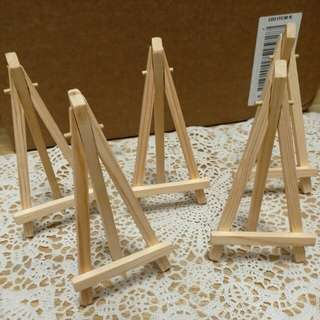 可調節企木架 wood wooden stand wedding decoration welcome board 歡迎板 木畫架 小