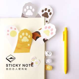 貓爪便條紙 標籤紙 留言條書簽記事紙卡通創意便利N次貼可愛分頁標籤貼