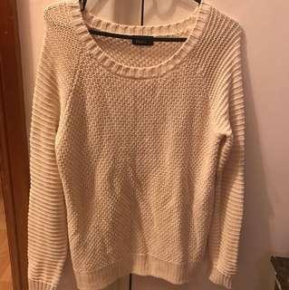 Dotti Beige Knitted Jumper - Size S