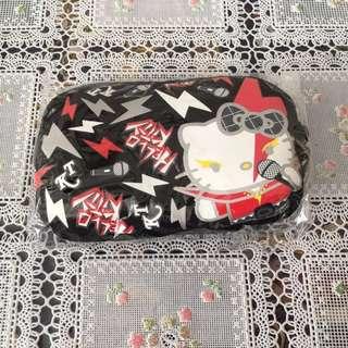 全新Hello Kitty黑色閃電收納小包零錢包相機袋