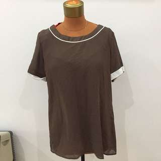 Blouse cokelat top