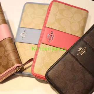 Authentic Coach women Wallet purse Pouch