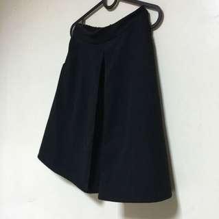 🚚 韓 黑 毛料  圓裙 質感超好!