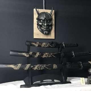 Japanese samurai sword set