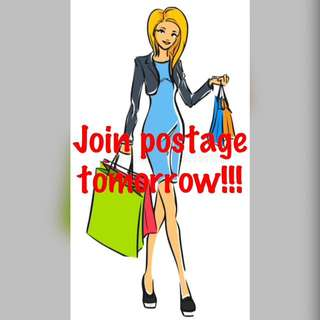 Join postage tomorrow!!!