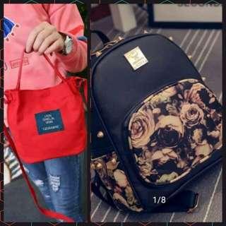 Backpack + Handbag