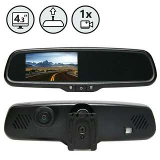 Touch Screen Rear View Dual Camera