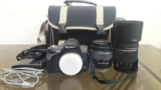 DSLR SONY A380 WITH 2 LENS FOR SALE