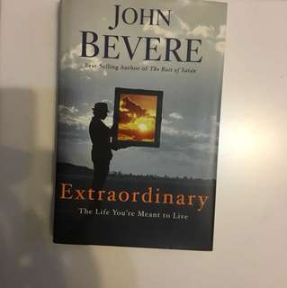 Autographed Extraordinary book by John Bevere