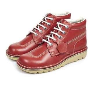 UK Cherry red Kickers