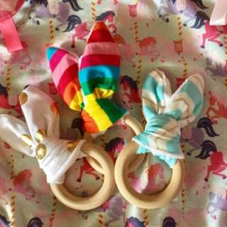 BN bunny teethers (free mail)