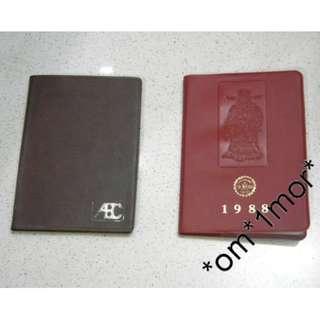 中古懷舊*80-90年代 銀行記事簿 + Call台電話簿* 香港歷史見證之產物 印刷品 ( 珍藏價 共$80 )