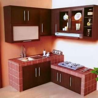 Dapur terlihat rapi dengan Lemari ini