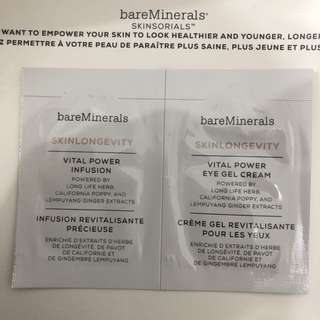 Baremineral skinlongevity  vital power infusion / eye cream