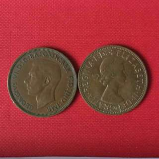 One Penny 外幣(1939及1964年)兩枚