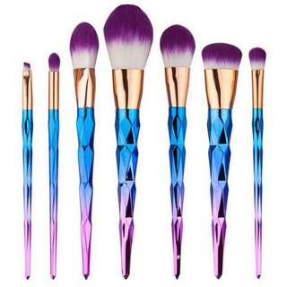 Kuas Brush Unicorn Up Rainbow 7 PCS