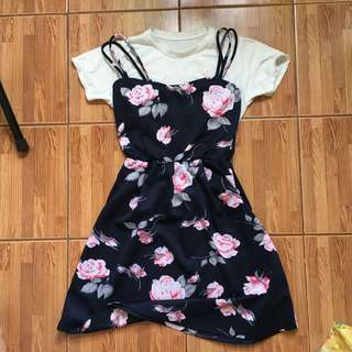 Floral Dress with inner