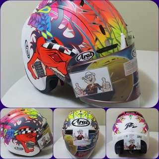 0107♡♡TSR RAM4 Scott Russell Helmet CONVERT TO ARAI 🦀 For SALE, Yamaha Jupiter, Spark, Sniper,, Honda, SUZUKI