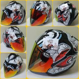 0701♡♡TSR RAM4 SHINYA NAKANO with Gold Visor Helmet CONVERT TO ARAI 🦀 For SALE, Yamaha Jupiter, Spark, Sniper,, Honda, SUZUKI