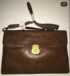 FOSSIL BRIEFCASE NEW WITH TAG